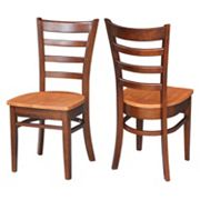 International Concepts Emily Dining Chair 2 pc Set