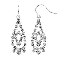 Simulated Crystal Teardrop Earrings