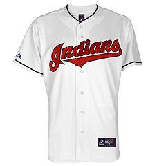 Big & Tall Majestic Cleveland Indians Cool Base Replica Jersey