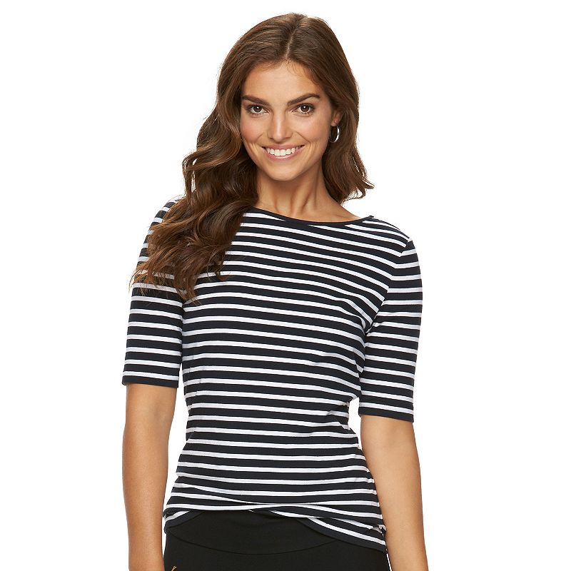 Women's Chaps Crisscross-Back Scoopneck Tee
