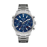 Bulova Men's Marine Star Stainless Steel Chronograph Watch