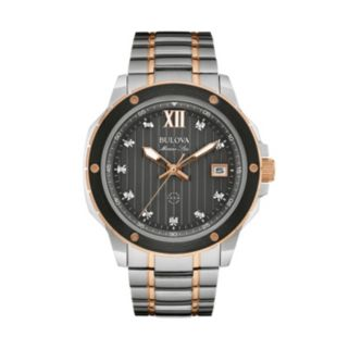 Bulova Men's Marine Star Diamond Two Tone Stainless Steel Watch - 98D127
