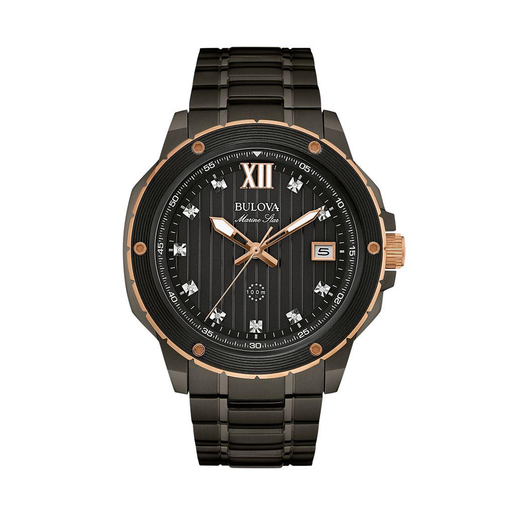 Bulova Men's Marine Star Diamond Stainless Steel Watch - 98D127
