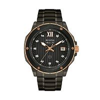 Bulova Men's Marine Star Diamond Stainless Steel Watch - 98D127