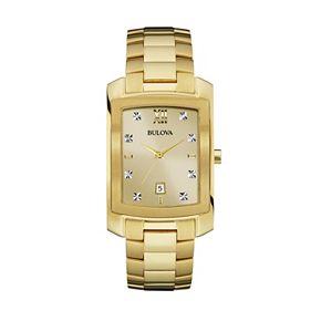 Bulova Men's Diamond Stainless Steel Watch - 97D107
