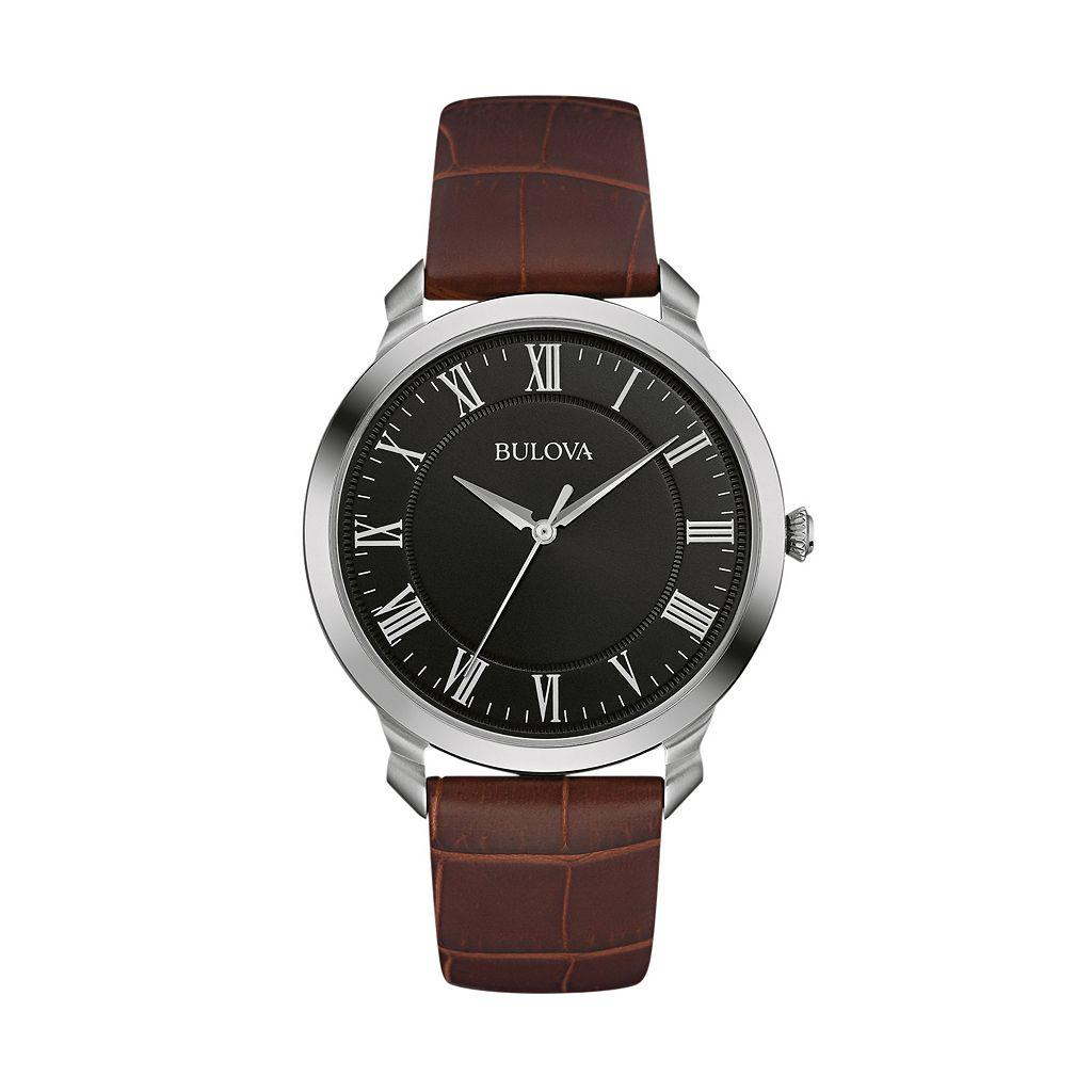 Bulova Men's Classic Leather Watch - 96A184