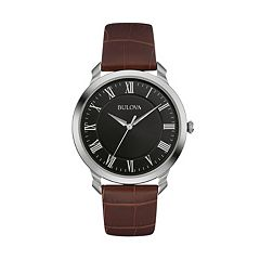 Bulova Men's Classic Leather Watch - 96A184