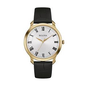 Bulova Men's Classic Leather Watch - 97A123
