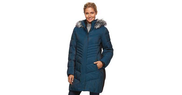 Women S Zeroxposur Black Label Faux Fur Hooded Quilted