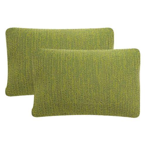 Safavieh Soleil Hooked Indoor Outdoor Throw Pillow 2-piece Set