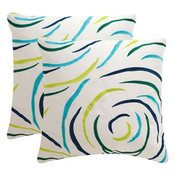 Safavieh Lollypop Embroidered Indoor Outdoor Throw Pillow 2-piece Set