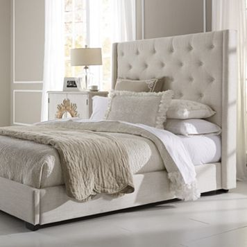 Pulaski Contemporary Shelter Upholstered Queen Bed