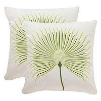 Safavieh Leste Verte Embroidered Indoor Outdoor Throw Pillow 2-piece Set