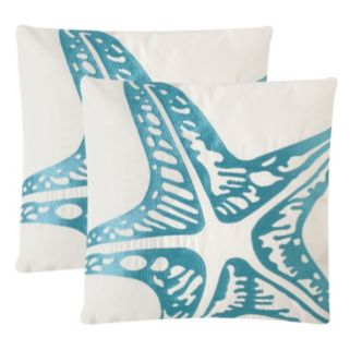 Safavieh Whitney Embroidered Indoor Outdoor Throw Pillow 2-piece Set
