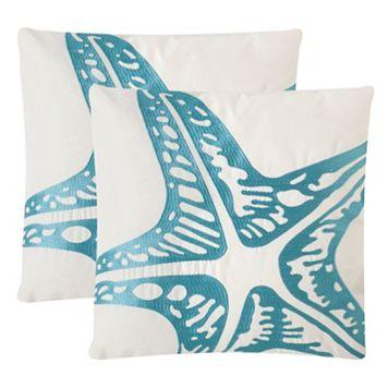 Safavieh Whitney Embroidered Indoor Outdoor Throw Pillow 2-piece Set