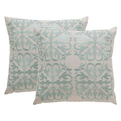 Safavieh Moroccan Embroidered Indoor Outdoor Throw Pillow 2-piece Set