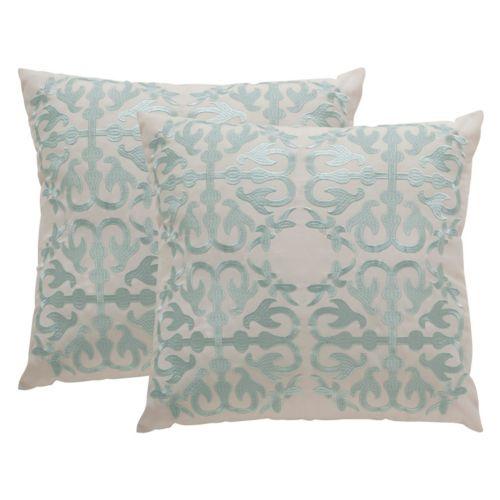 Safavieh Moroccan Embroidered Indoor Outdoor Throw Pillow 2-piece Set