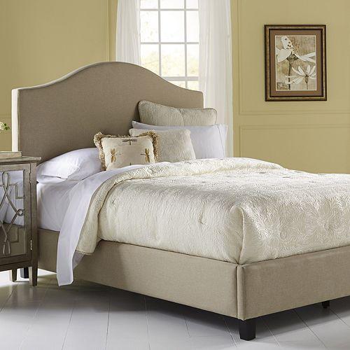 Pulaski Saddle Back Upholstered Queen Bed