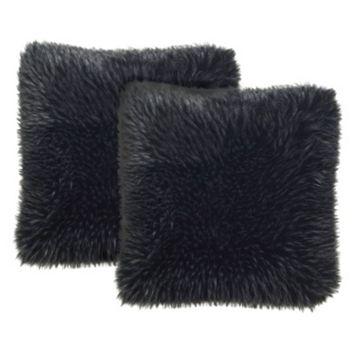 Safavieh Faux Grizzly Throw Pillow 2-piece Set
