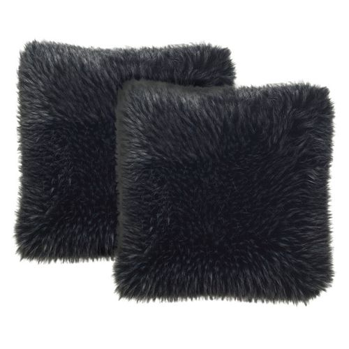 Safavieh Faux Grizzly Throw Pillow 2-piece Set