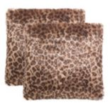 Safavieh Leopard Print Throw Pillow 2-piece Set