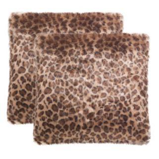 Safavieh Leopard Print Throw Pillow 2-piece Set