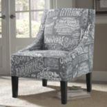 Pulaski Chalkboard Shadow Upholstered Arm Chair