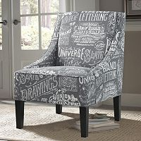 Pulaski Chalkboard Shadow Upholstered Arm Chair