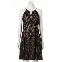 Women's Suite 7 Lace Empire Dress