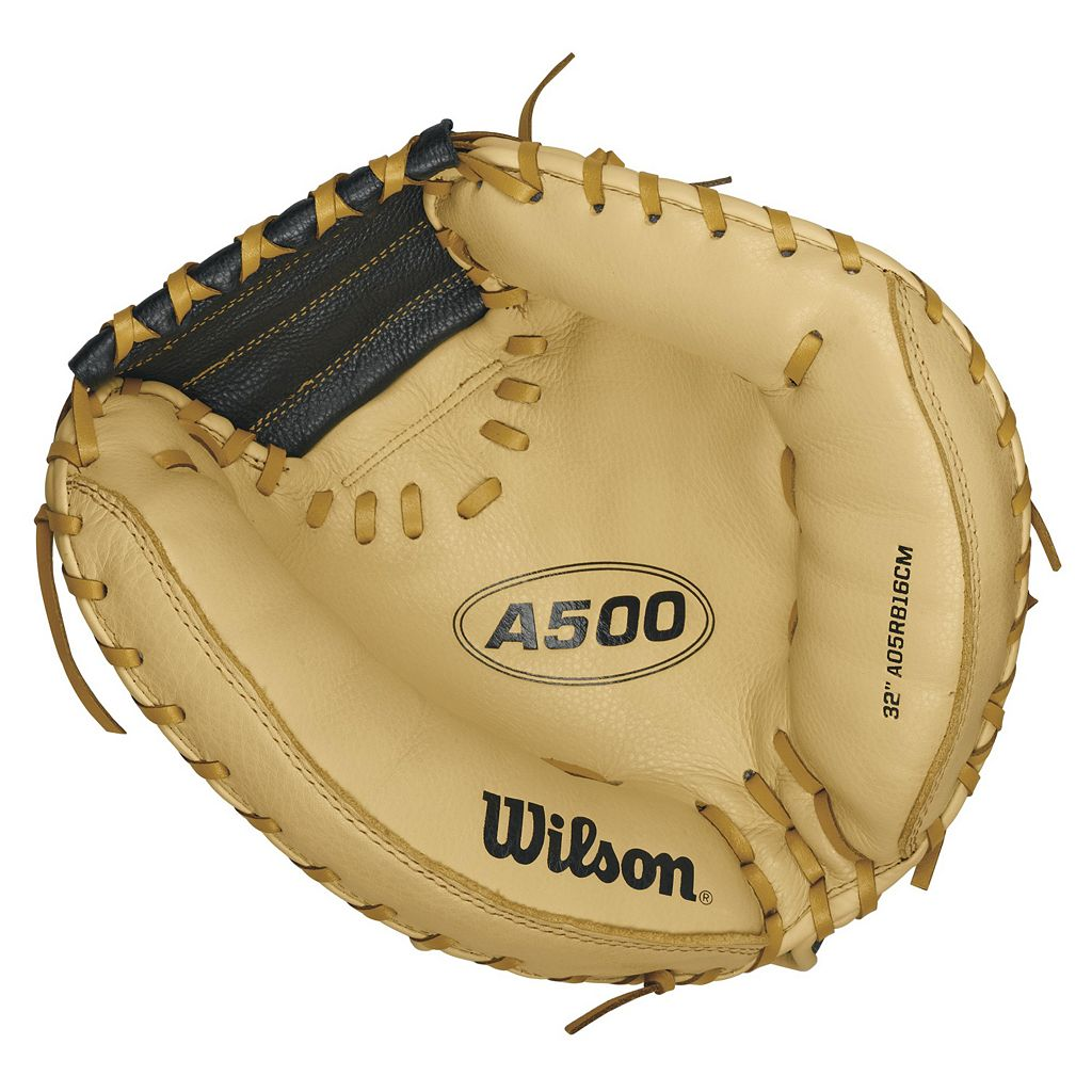 Adult Wilson A500 32-in. Right Hand Throw Cream Baseball Catcher's Mitt