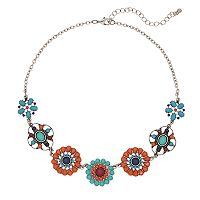 Mudd® Flower Collage Necklace