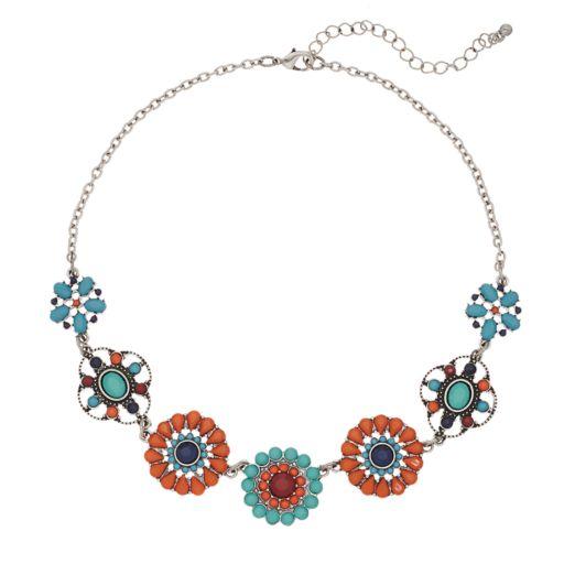 Mudd® Flower Collage Necklace