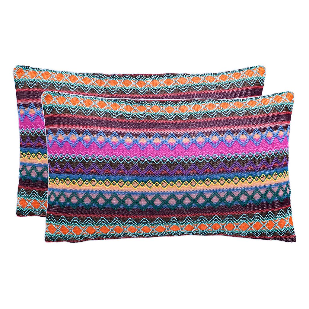Safavieh Mirabelle Chocolate Throw Pillow 2-piece Set