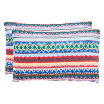Safavieh Mirabelle Blue Throw Pillow 2-piece Set
