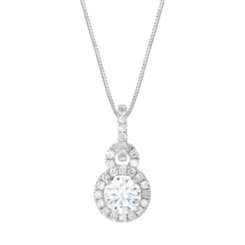 Forever Brilliant Sterling Silver 1 1/10 Carat T.W. Lab-Created Moissanite  Pendant