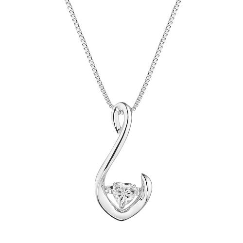 Forever Classic Sterling Silver 1/4 Carat T.W. Lab-Created Moissanite Pendant