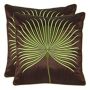 Safavieh Leste Verte Embroidered Throw Pillow 2 pc Set