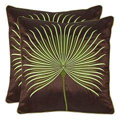 Safavieh Leste Verte Embroidered Throw Pillow 2 pc Set