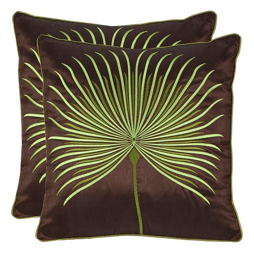 Safavieh Leste Verte Embroidered Throw Pillow 2-piece Set