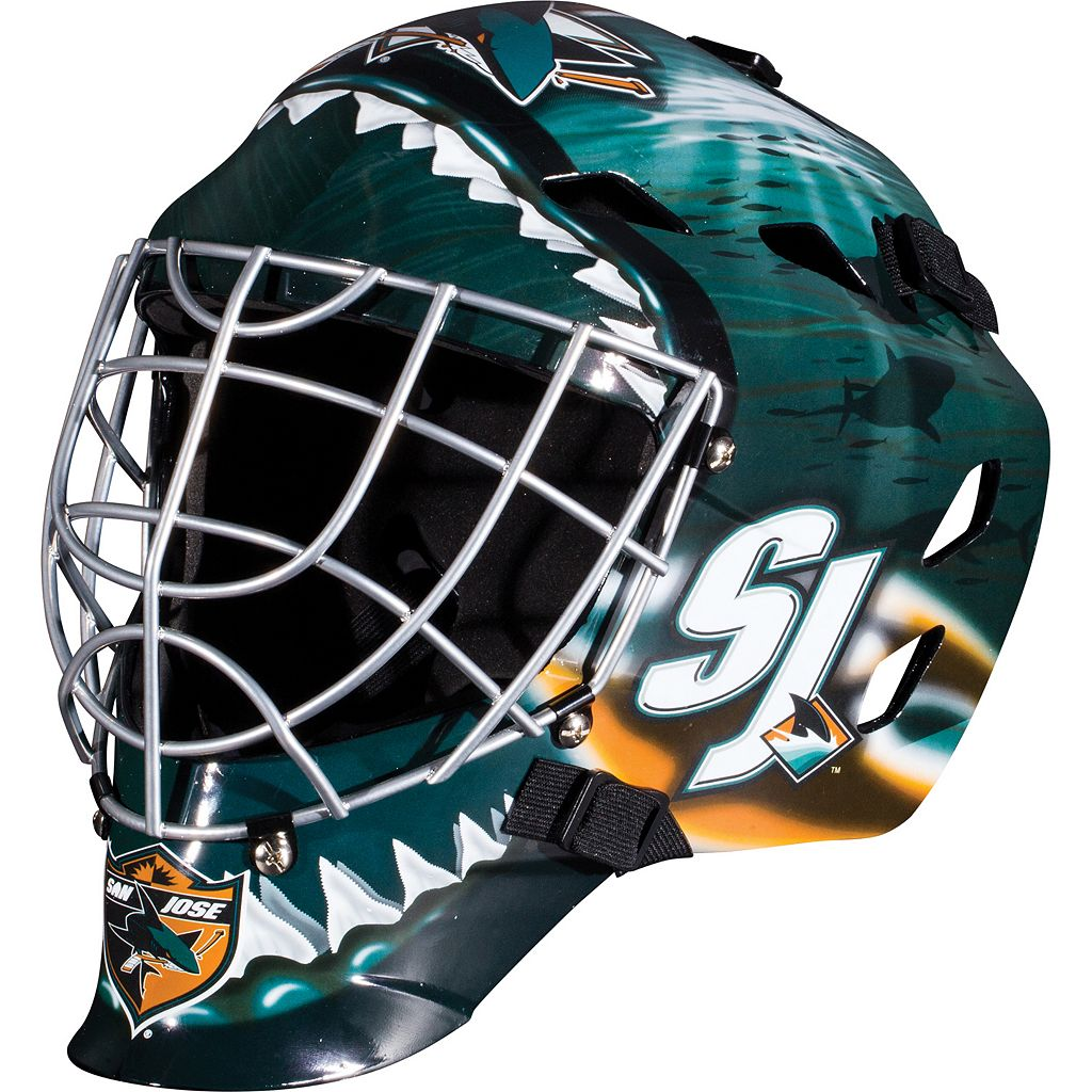 Franklin Youth San Jose Sharks GFM 1500 Street Hockey Goalie Face Mask