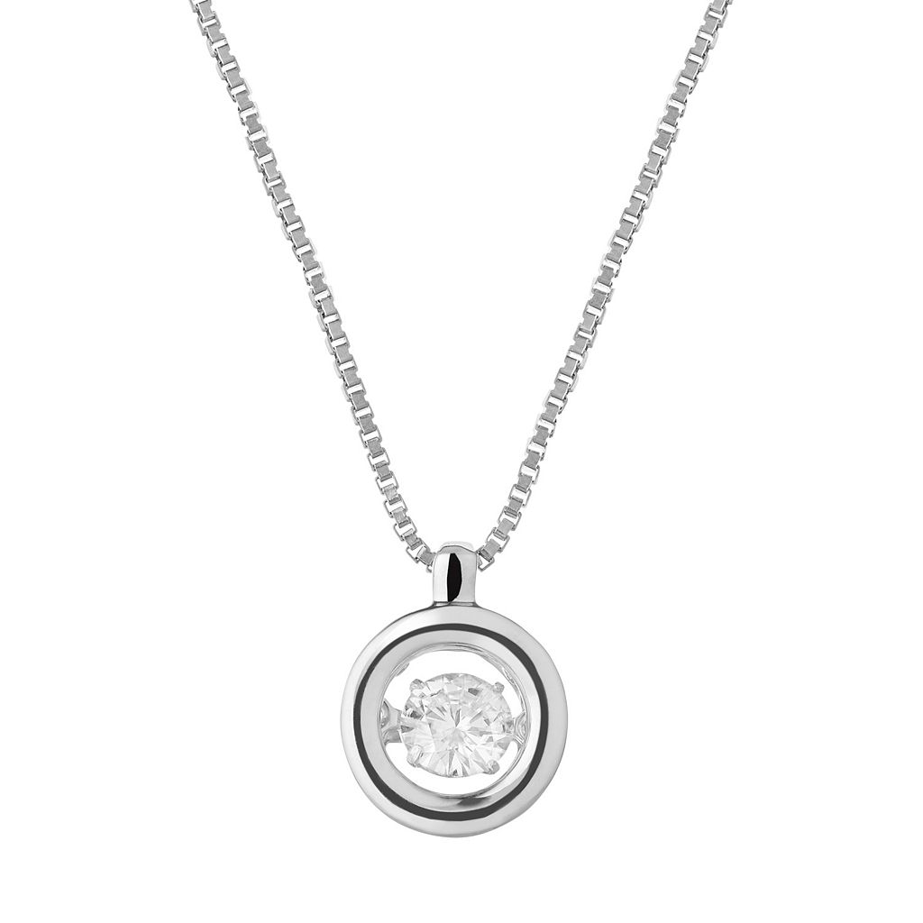 Forever Classic Sterling Silver 1/5 Carat T.W. Lab-Created Moissanite Pendant