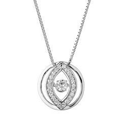 Forever Classic Sterling Silver 1/3 Carat T.W. Lab-Created Moissanite Circle Pendant