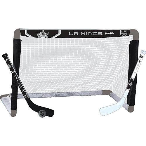 Franklin Sports Los Angeles Kings Mini Hockey Goal Set