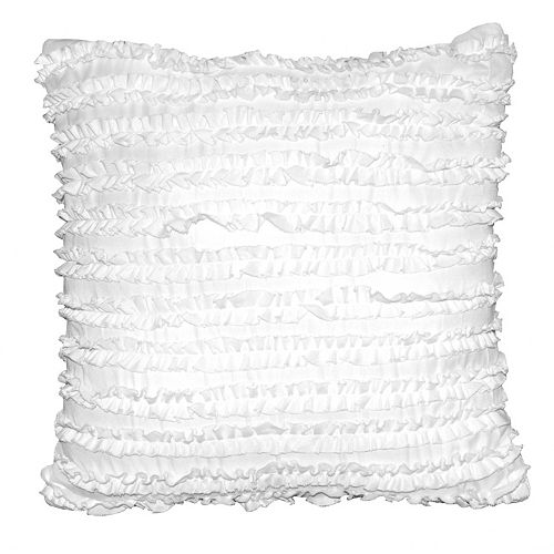 Seventeen Chevron Square Ruched Throw Pillow