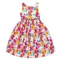 Girls 7-16 American Princess Shantung Silk Floral Dress
