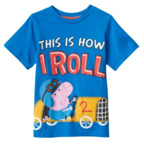 "Toddler Boy Peppa Pig George ""This is How I Roll"" Tee"