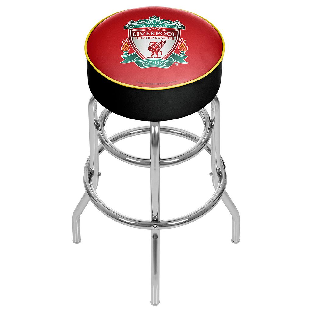Liverpool FC Swiveling Chrome Bar Stool