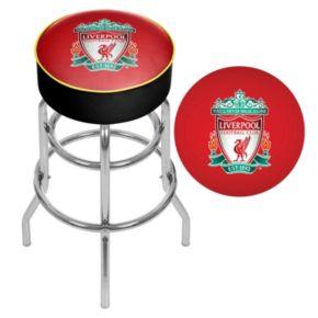 Liverpool FC Swiveling Chrome Bar Stool
