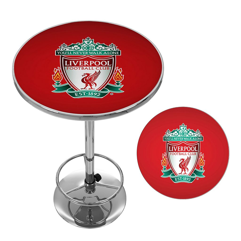 Liverpool FC Chrome Pub Table