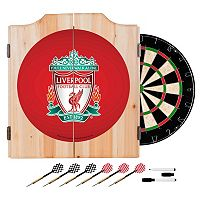Liverpool FC Cabinet Dart Board Set